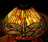 Quoizel Tiffany Reproduction Stained Glass Lamp Shade ...