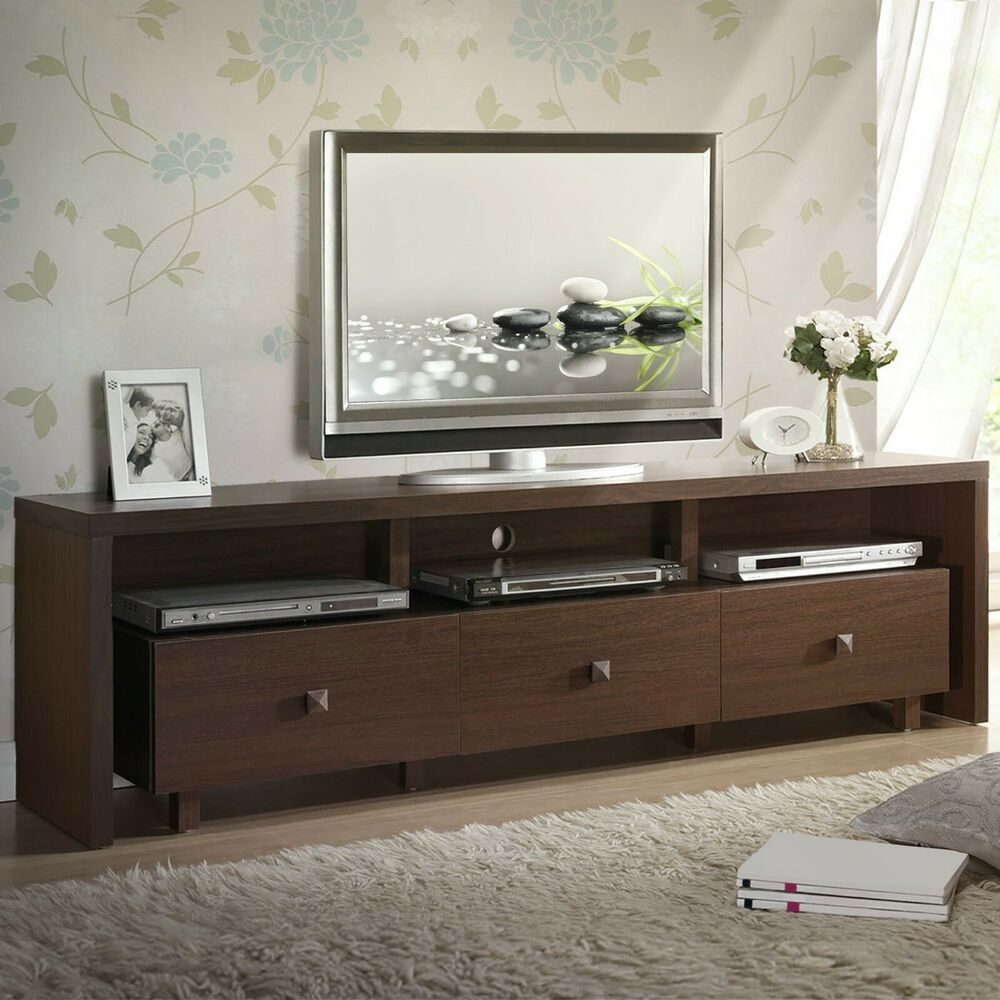 70'' Modern Entertainment Center TV Stand with 3 Storage