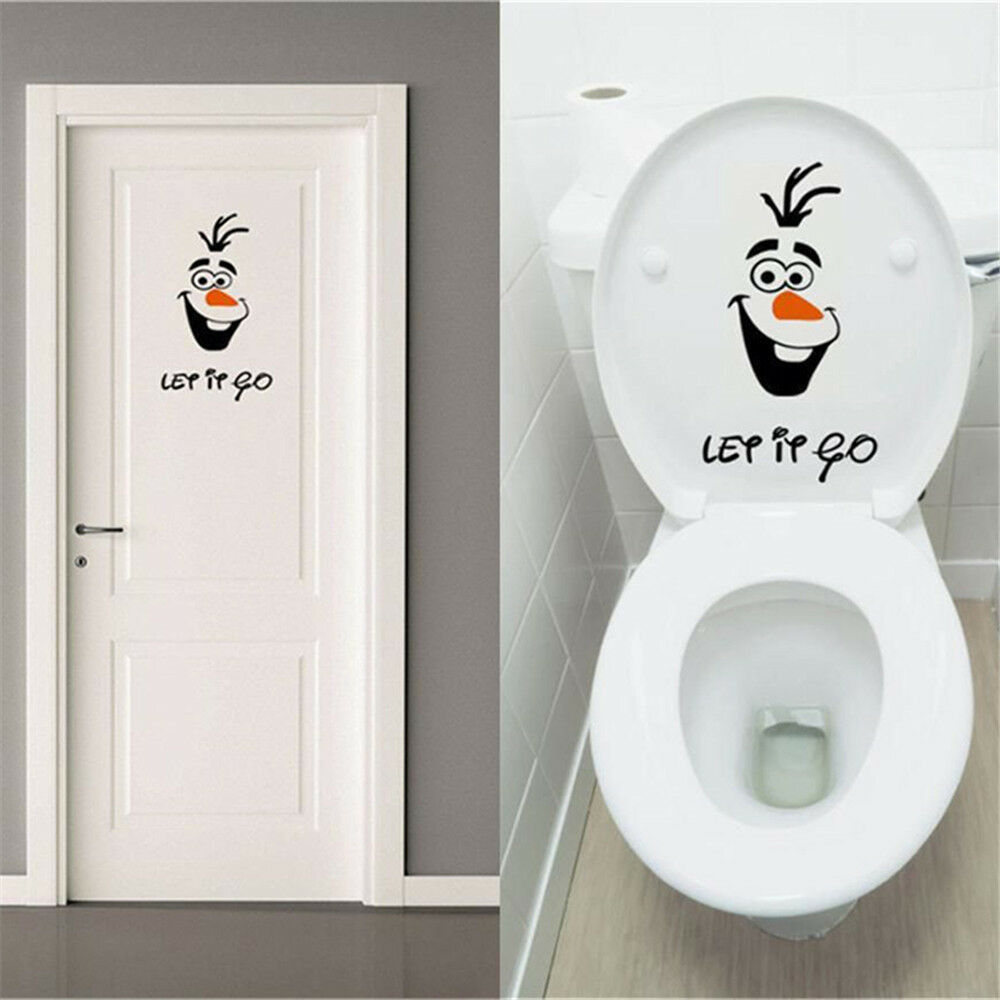 Frozen Quotes Wallpaper Funny Olaf Let It Go Toilet Seat Wall Sticker Vinyl Decal