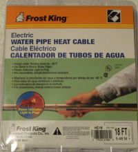 NEW Frost King Water Pipe Heat Cable 18' HC18 Electric No ...