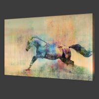 NOT Framed 12x19 Canvas Print Home Decor Running horse ...