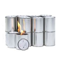 Fireplace Gel Fuel Cans Fire Flame 16 Indoor Outdoor Heat ...