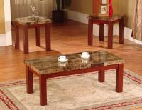 New Faux Marble 3 Piece Coffee and End Table Set Tables ...