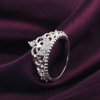 Princess Queen Crown Silver Plated Ring Design Wedding ...