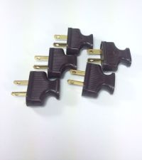5 BROWN Vintage Antique Style Electrical Plugs - Cloth ...