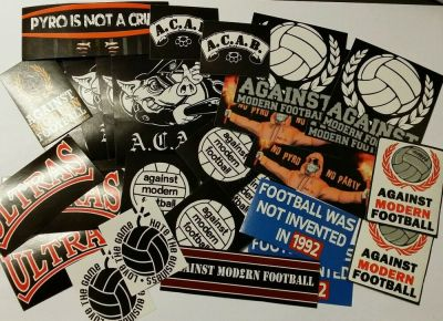 50x Against Modern Football / ACAB Stickers - AMF - Ultras Casuals Stickers set | eBay
