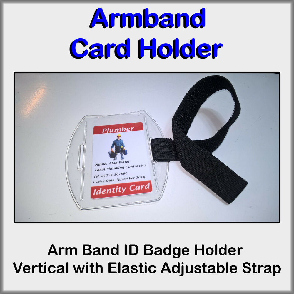 Arm Band Id Badge Holder Vertical With Elastic Adjustable