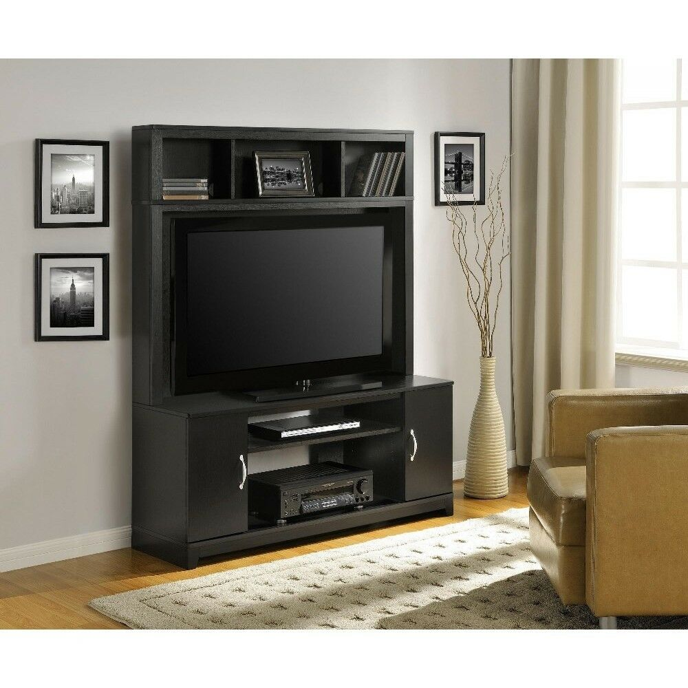 Home Entertainment Center Wood Storage Cabinet TV Stand