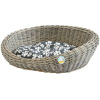 ME & MY PETS OVAL WOVEN WICKER PET BED BASKET DOG/PUPPY ...