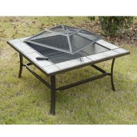 Outsunny Fireplace Table Garden Fire Pit Heater Wood ...