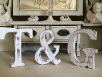 LARGE SHABBY CHIC VINTAGE WHITE WOODEN BABY NAMES A-Z ...