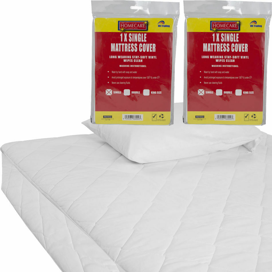 Fitted Mattress Protector Sheet Single Double And King