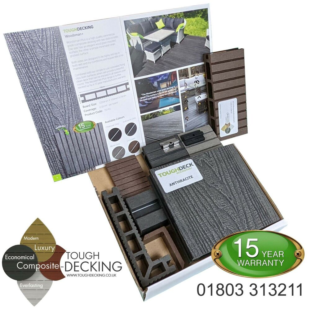 Wpc Terasse Wpc Composite Decking Boards Grey Black Anthracite Chocolate 10 Year Warranty Ebay
