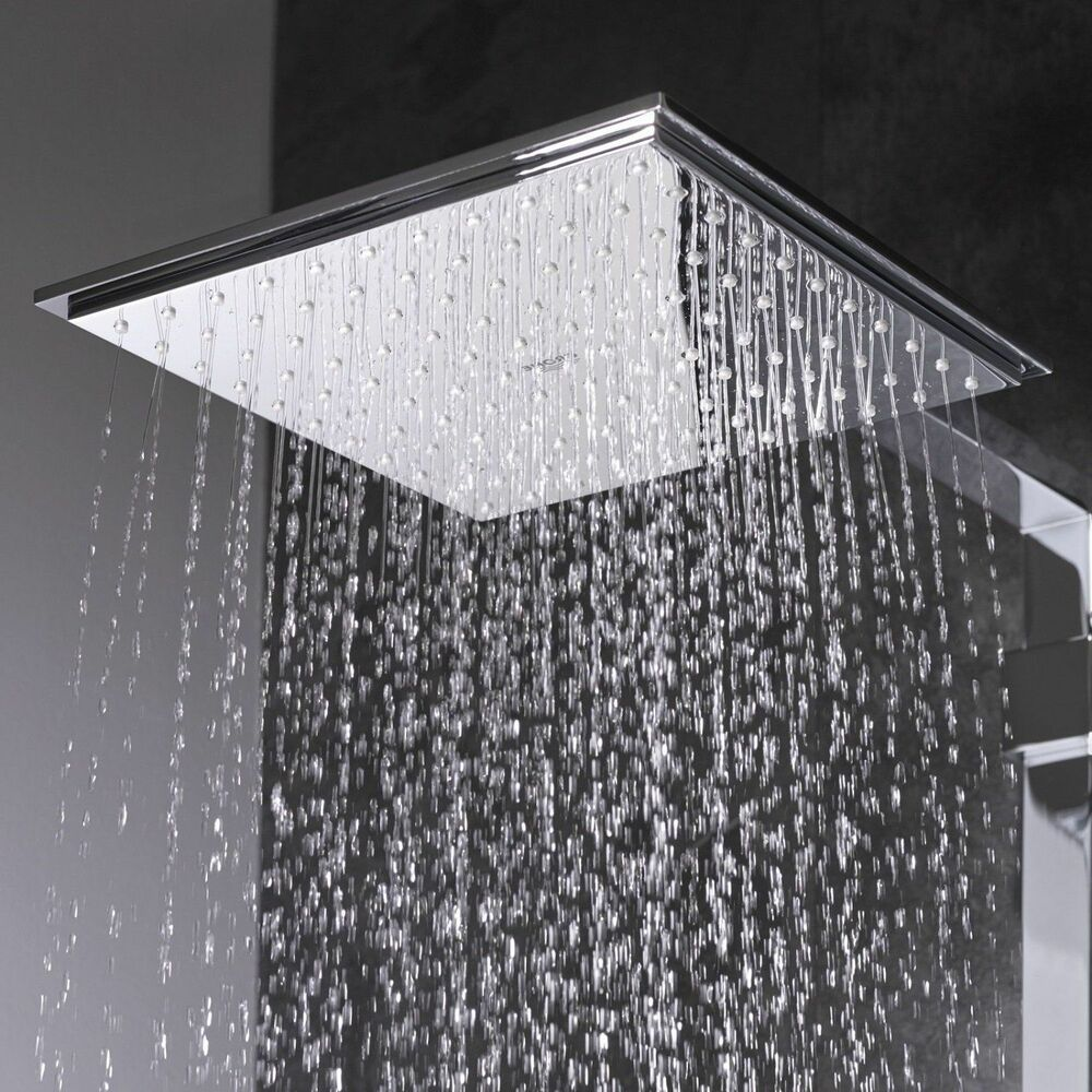 Tete De Douche Grohe Euphoria Cube 150 Square Rain Shower Head Chrome New 4005176907166 Ebay