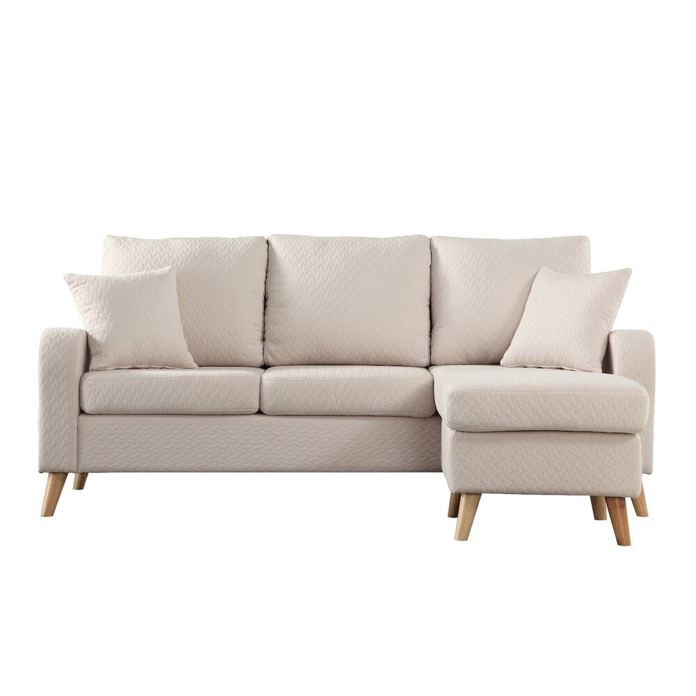 Fabric Sectional Sofas With Chaise Modern Fabric Small Space Sectional Sofa With Reversible