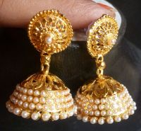 Indian Earrings Jhumka Gold | www.imgkid.com - The Image ...