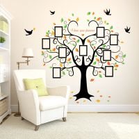 Family Photo Tree Birds Wall Art Stickers Vinyl Frame