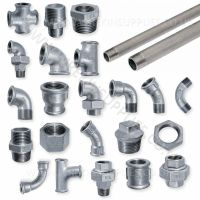 """GALVANISED MALLEABLE IRON PIPE FITTINGS BSP 1/8"""" - 4"""" GALV ..."""