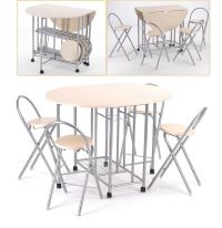 Extending Dining Table and 4 Chairs Small Kitchen Folding ...