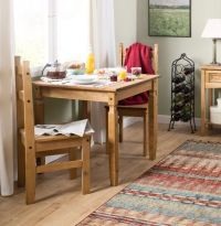 Small Dining Table And 2 Chairs Kitchen Square Furniture ...