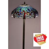 Dragonfly Floor Lamp Tiffany Style Handcrafted Antique ...