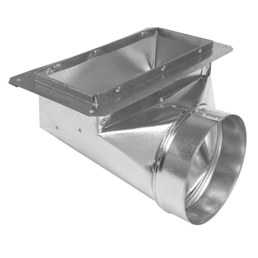 Air Duct Angle Boot Flange 6quot X 14quot X 8quot Round Galvanized