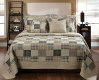 King Size Bedding Patchwork Quilt Set Beige Rustic Country ...
