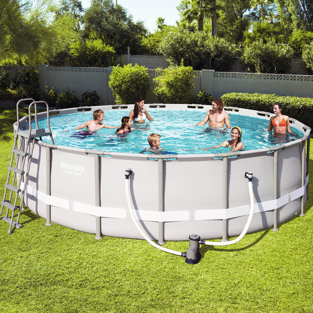 Pool Komplettset Bestway Bestway Swimming Pool Schwimmbad Frame Pool Swimmingpool