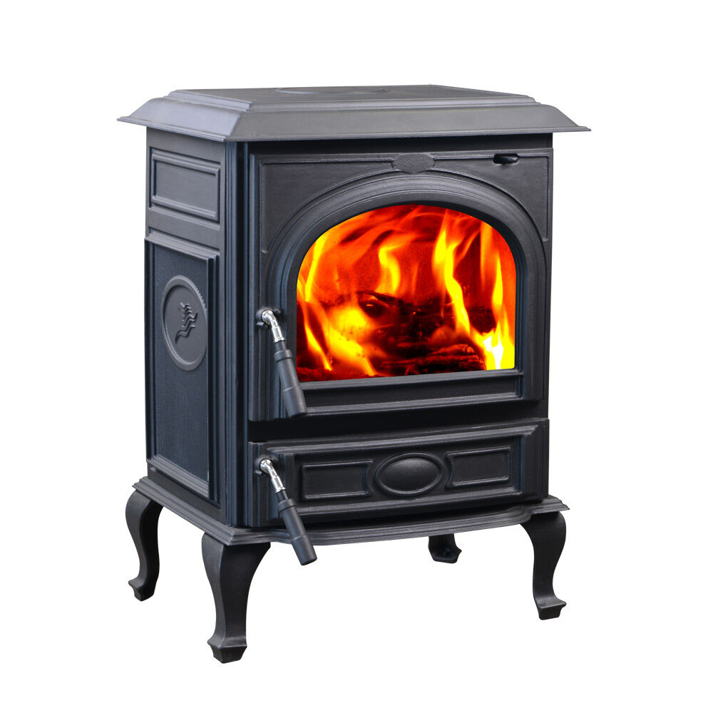 Hiflame 18kw Medium Cast Iron Wood Burning Stove Hf717ua