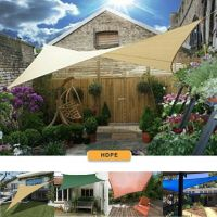 Sun Shade Sail Outdoor Top Canopy Patio UV Block 11.5' 16 ...
