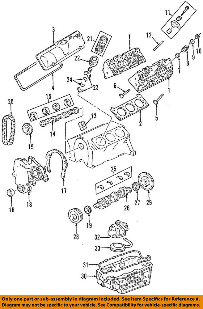 GM OEM-Engine Oil Pan Gasket 10182387 eBay