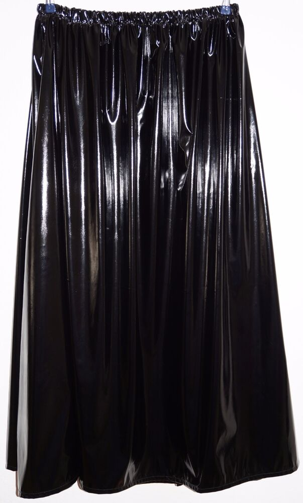 Satin Baumwolle Lack-rock Lang Gr.50/52/54/56 - Pvc-skirt Long Uk 24,26,28