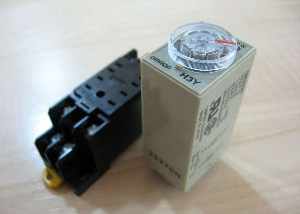 Omron Delay-On Timer Time Relay 05~10min 2-Pole 12VDC H3Y-2 w