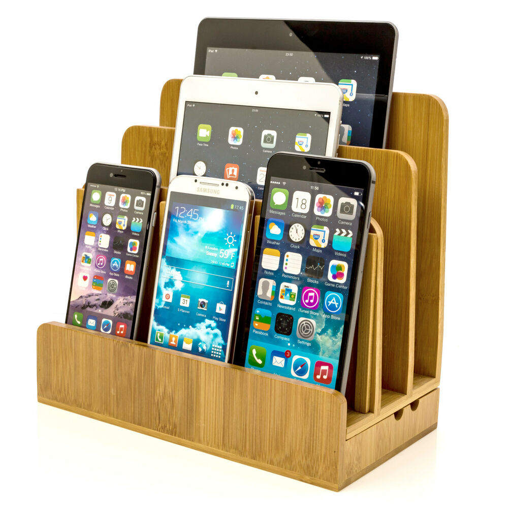 Stylish Charging Station Bamboo Charging Station For Laptops Phones And Gagdets Stylish And Elegent 642896123649 Ebay