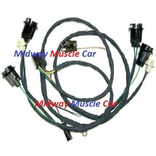 rear body tail light wiring harness 69 Chevy Chevelle Malibu SS