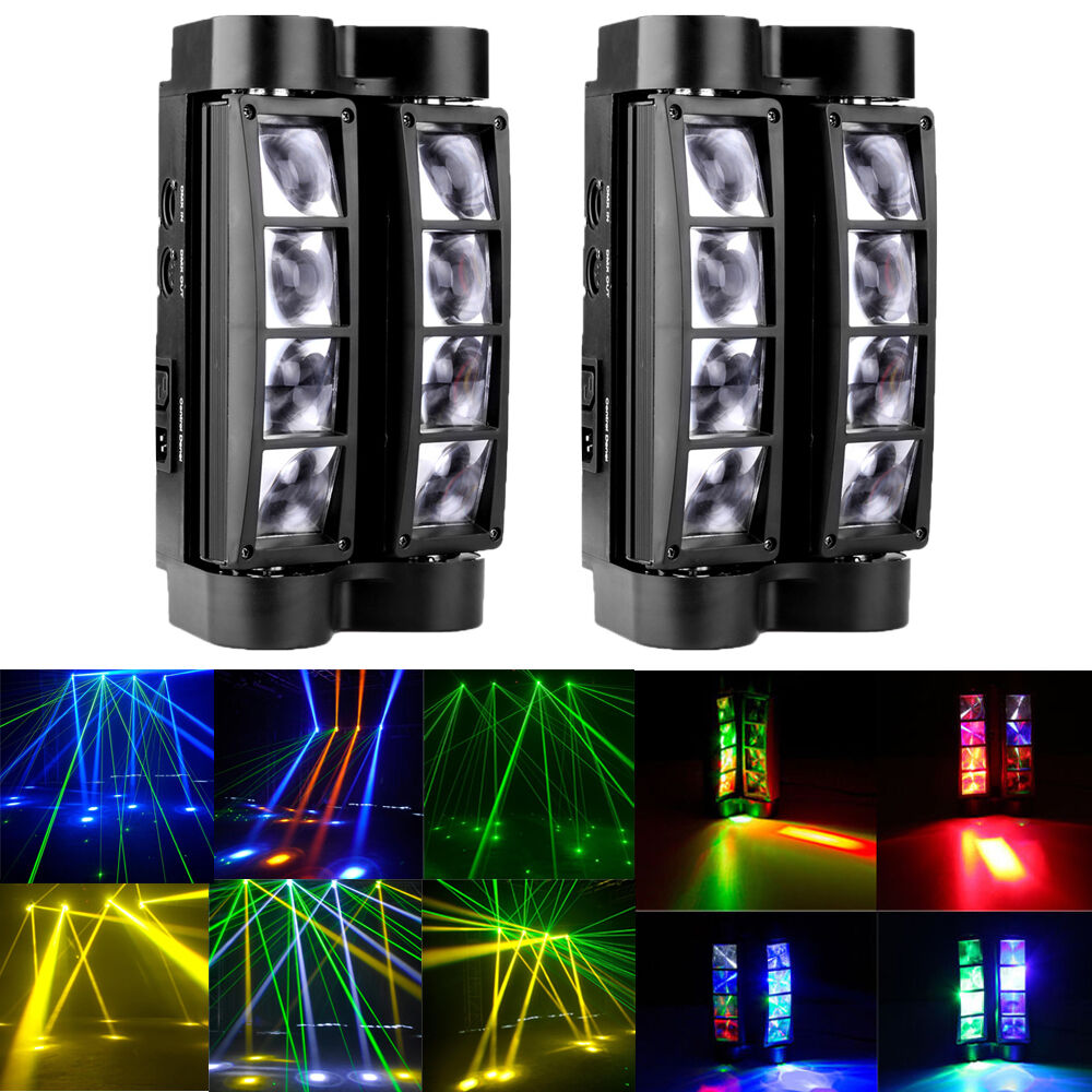 Led Stage Lighting Ebay 2pcs Rgbw Dj Spider Moving Head Stage Lighting 80w Beam