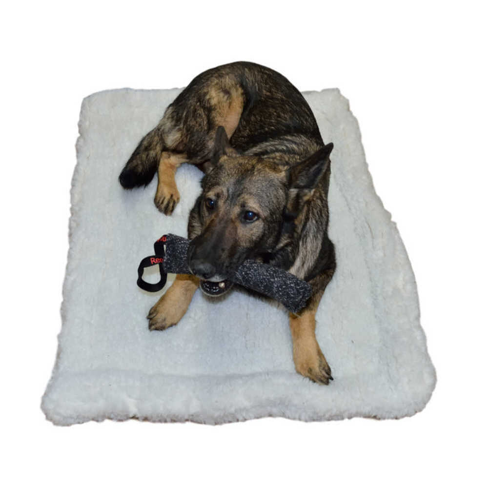 Double Dog Bed Redline K9 Double Sided Sherpa Dog Bed Crate Mat Ebay