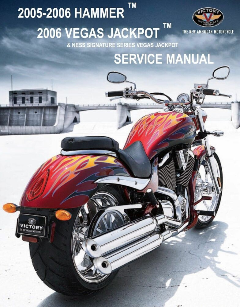 Victory 2005 2006 Hammer  Vegas Jackpot service manual on CD eBay