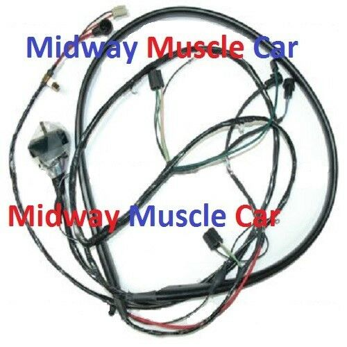 front end headlight wiring harness w/ internal alternator 67 68