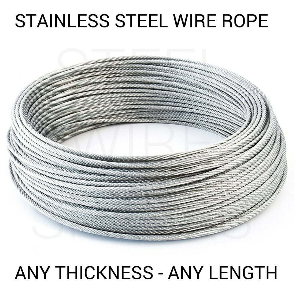 Cable Acier Stainless Steel Wire Rope Cable 1mm 2mm 3mm 4mm 5mm Free Delivery Ebay