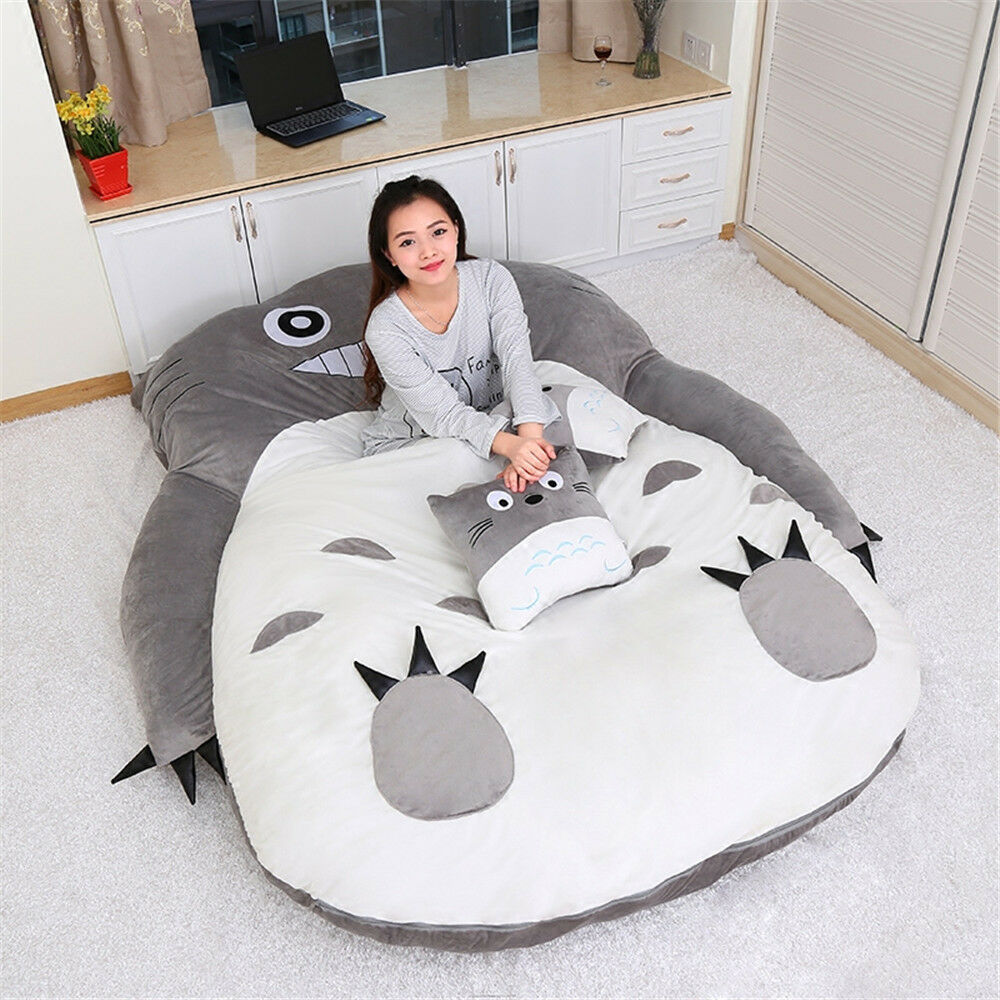 Sofa Bed Giant Malaysia Anime Huge Totoro Sleeping Bag Soft Plush Large Cartoon Sofa Bed
