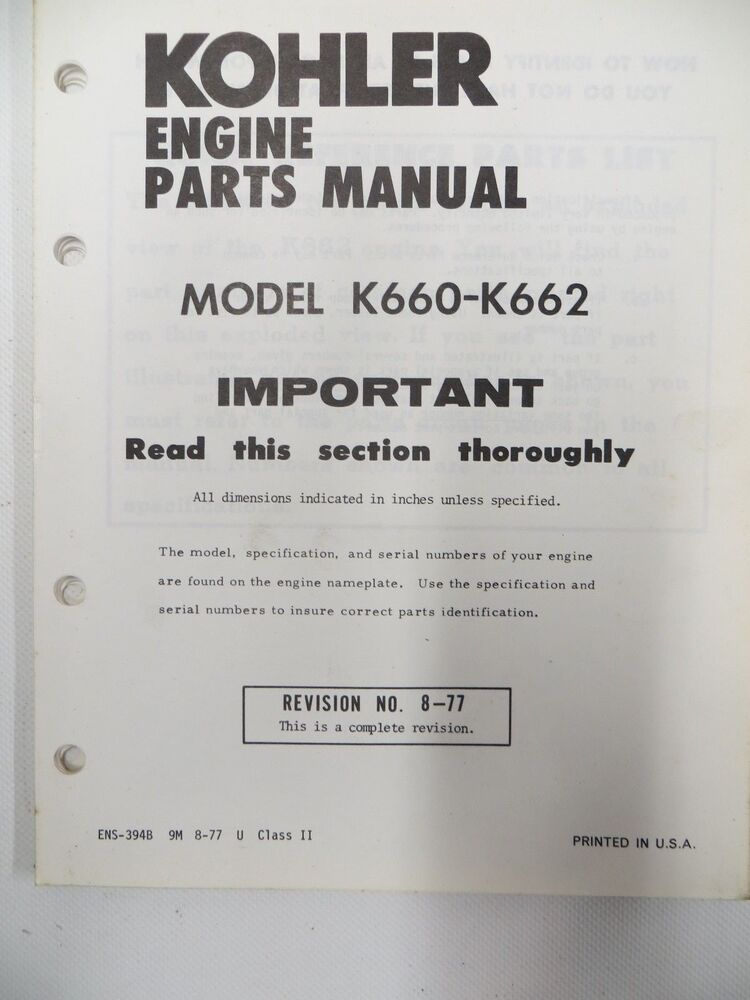 Kohler Engine Spare Parts Uk Kayamotor
