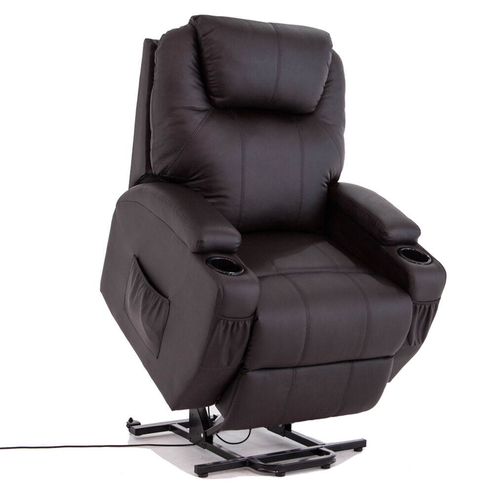 Lift Armchair Kuppet Power Lift Chair Recliner Armchair Real Leather Wall Hugger Lounge Seat 699991934427 Ebay