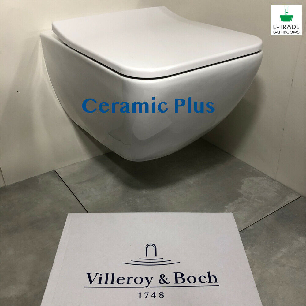 Venticello Villeroy Und Boch Villeroy Boch Venticello Wc Wall Hung Rimless Toilet Pan With Ceramic Plus 4051202318710 Ebay