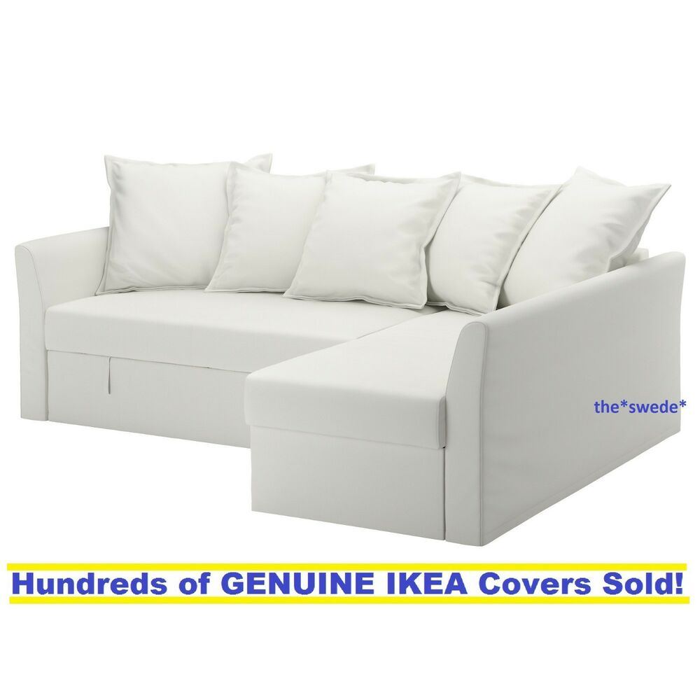 Ikea Corner Sofa Bed Ikea Holmsund Corner Sofa Bed Sectional Cover Slipcover Ransta White New In Box Ebay
