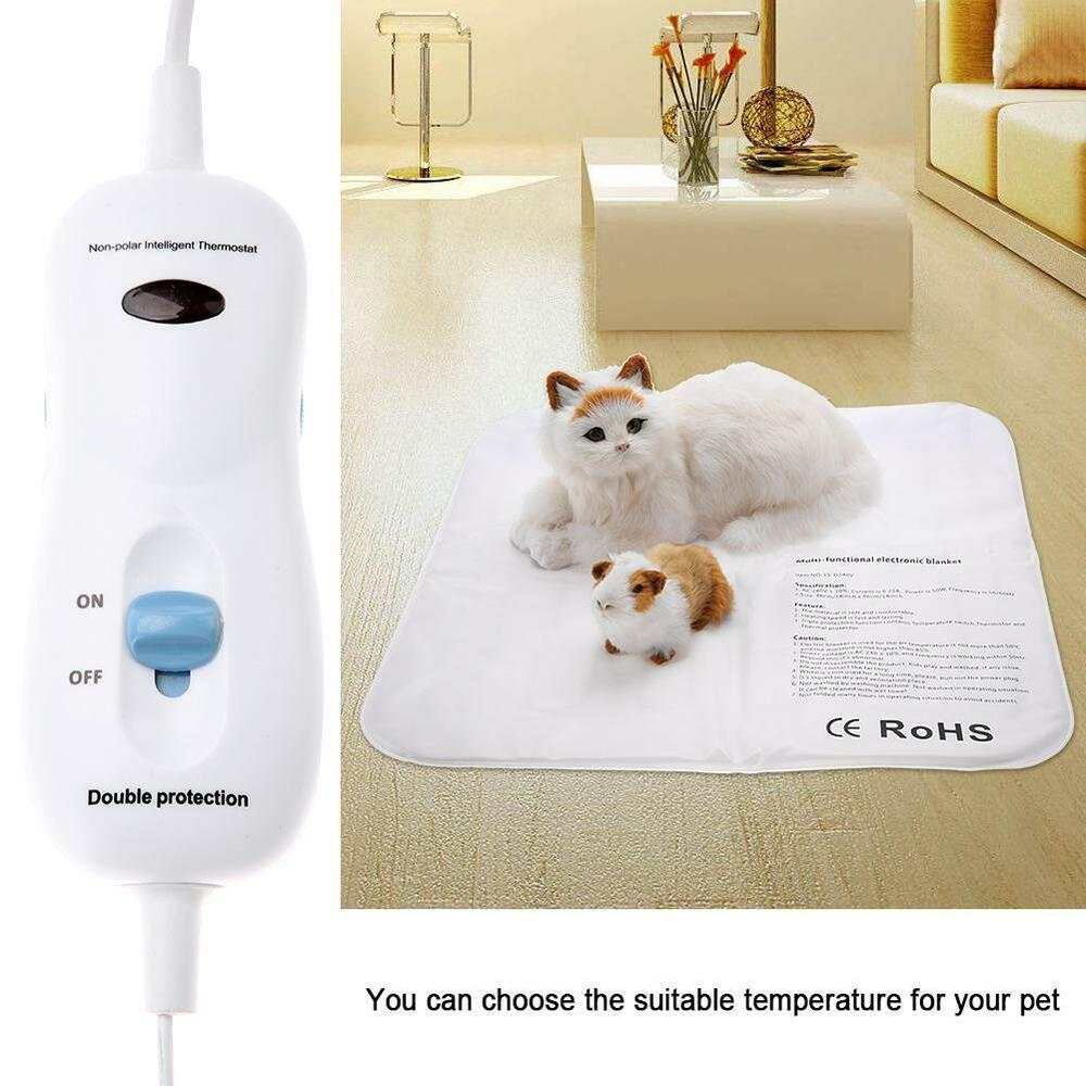 Bed Heater Electric Pet Heating Pad Mat Waterproof Heater Blanket Pad Dog Cat