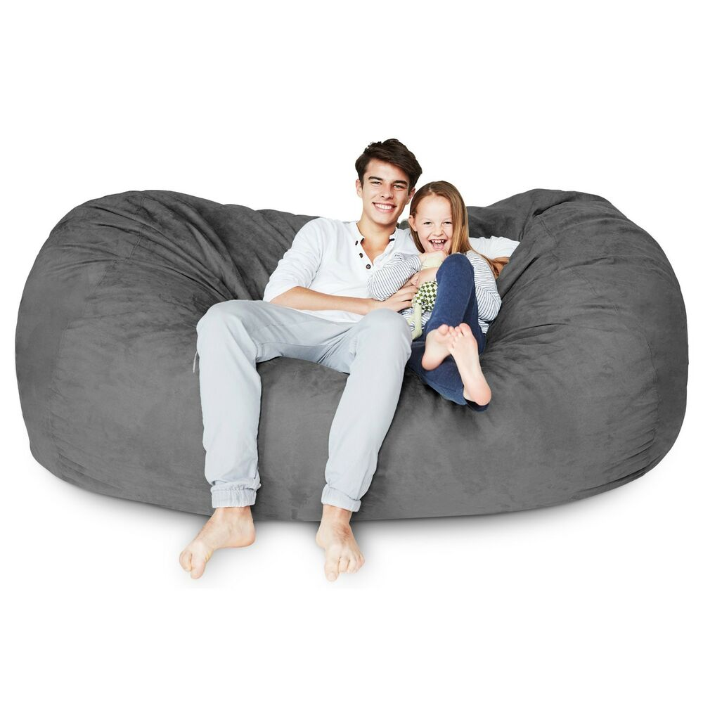 Big Sofa Xxl Ebay Foam Filled Giant Xxl Bean Bag Chair Big Sofa Relax Seat Lounger Loveseat Couch Ebay