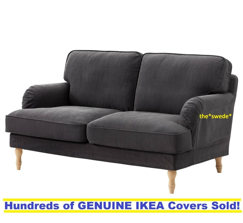 Ikea Loveseat Ikea Stocksund Loveseat 2 Seat Sofa Cover Slipcover Nolhaga Dark Gray Sealed Ebay