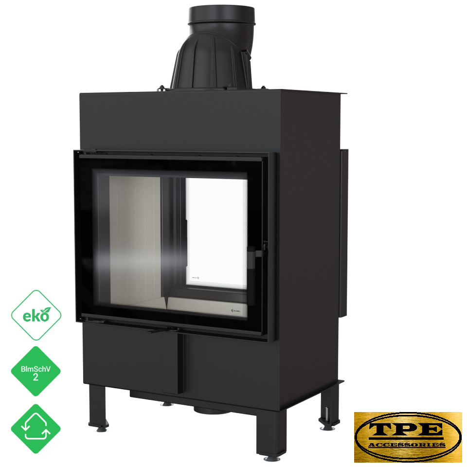 Poele A Bois Insert Lucy 12 Tunnel Double Sided Fireplace Insert Cassette Stove Wood Burner 12kw 5903950029730 Ebay