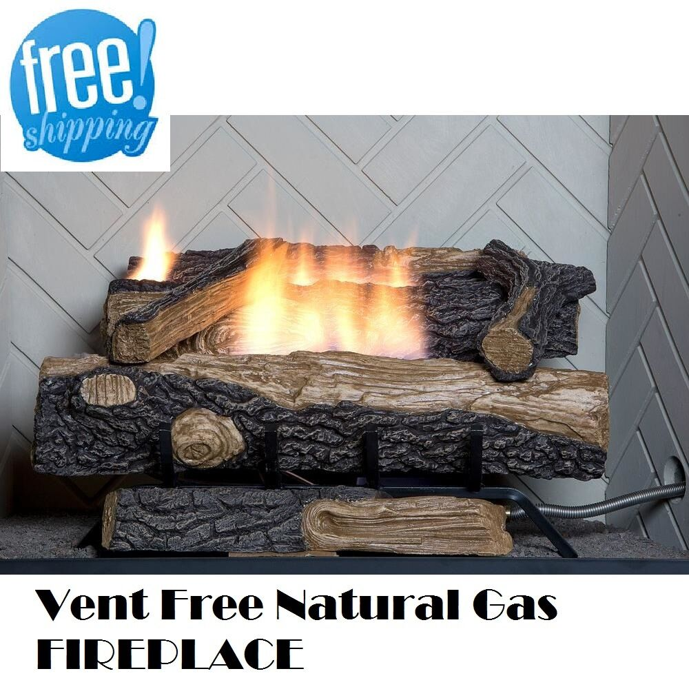 Free Fireplace Insert Natural Gas Fireplace Insert Vent Free Logs Thermostatic 24 Inch Oakwood Heater 637390643779 Ebay